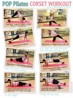 """Pilates """"Corset"""" workout by  @Cassey Ho   #fitness #workout #exercise #printable #core"""