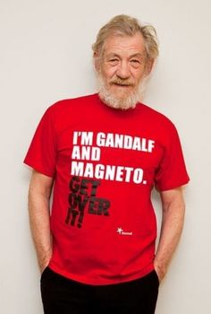 "the person who originally pinned this put: ""hp and x men"", and I almost barfed.  GANDALF, you idiots!"