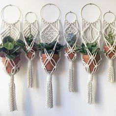 Macrame-DIY-Fiber Art-Textiles-Weaving-Craft-InChicago by amyzwikelstudio Macrame Design, Macrame Art, Macrame Projects, Macrame Knots, Micro Macrame, Macrame Plant Holder, Mini Plants, Macrame Tutorial, Bracelet Tutorial