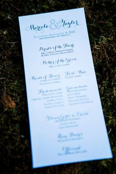 Punky's Designs - Ceremony Program
