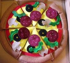 Felt pizza...creatively delicious