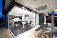 Love this kitchen! And the indoor-outdoor flow.