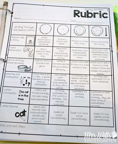 Tips for organizing your reading and writing rubrics for the whole year! Simple tips so your rubrics will be organized all year long. Align your rubrics with your anchor charts. Kindergarten assessment and first grade assessment rubrics!