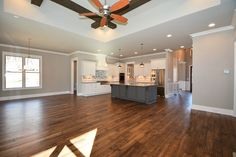 Modern open layout living! See it at our new construction home in #BrentwoodTN: