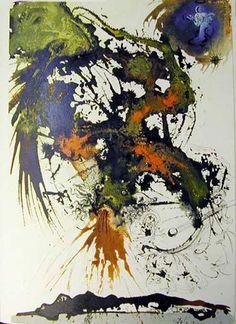 """""""Proelium magnum in caelo"""", gouache von Salvador Dali (1904-1989, Spain)"""
