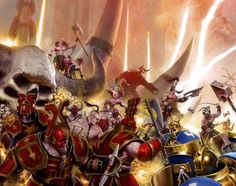 GORETIDE vs HAMMERS OF SIGMAR #ageofsigmar #warhammer #art #fantasy #aos #gamesworkshop #Chaos #stormcast