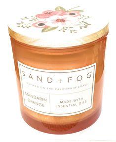 Sand + Fog Mandarin Orange Triple Wick Candle with Lid 25 Oz #jarcandles