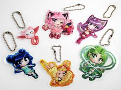 Tokyo Mew Mew Laminated Keychain Set by PicturePurrfectArt on Etsy, $10.00