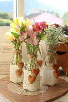 garrafa de vidro, garrafa decorada, garrafa com renda