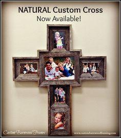 Custom Barnwood Frames - LARGE CUSTOM CROSS - NATURAL, $100.00 (http://www.custombarnwoodframing.com/products/large-custom-cross-natural.html)