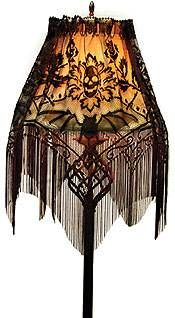 Halloween Gala Lace Lamp Shade Cover :  cover gothic lampshade halloween