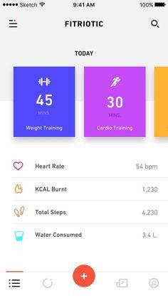 Medical App Ios Inspiring Quotes New Ideas Ios App Design, Mobile App Design, Web Design, Mobile App Ui, Interface Design, Flat Design, User Interface, Training Apps, Iphone Ui