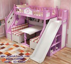 Tempat Tidur Susun Perosotan Merupakan Model Tempat Tidur Tingkat Lengkap dengan Area Bermain Perosotan Anak By Djavu Klasik Furniture