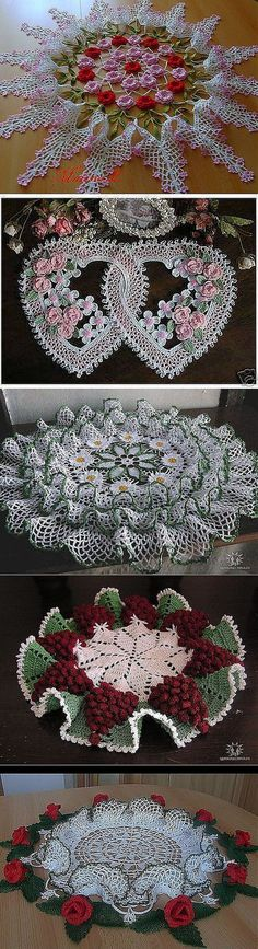 """(doesn't look like patterns are included) """" My grandmother used to make these beautiful doilies."""", """"Gorgeous crochet pattern for this floral Crochet Doily Patterns, Crochet Art, Crochet Home, Thread Crochet, Love Crochet, Beautiful Crochet, Vintage Crochet, Crochet Designs, Crochet Crafts"""