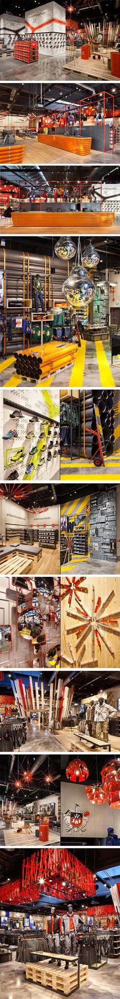 ENGELBERT STRAUSS workwear store by Plajer & Franz, Bergkirchen – Germany.