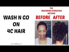 4C Hair Before After Max Hydration Regimen