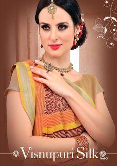 Give yourself Nice Look with #SilkVilla Vishnupuri Present Ethnic #SilkSarees catalog online only at @textiledeals