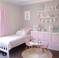 Ideas For Kids Bedroom Furniture Layout Twin Teen Girl Bedrooms, Baby Boy Rooms, Baby Bedroom, Baby Room Decor, Unicorn Bedroom, Girl Rooms, Furniture Layout, Bedroom Furniture, Bedroom Decor