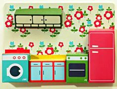 cardboard dollhouse kitchen furniture