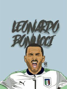 Leonardo Bonucci Italy National Team Vector
