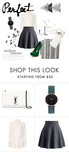 """Romanticisme black&white"" by summerbook27 ❤ liked on Polyvore featuring Yves Saint Laurent, Abbott Lyon, Nicholas, Chicwish, Kate Spade, Steve Madden, love, look, romantic and blackandwhite"