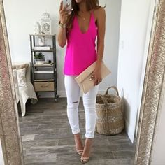 Love white pants!! Plus I just bought those shoes...