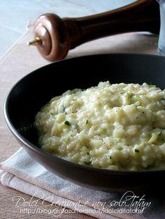 Risotto cremoso zucchine e stracchino