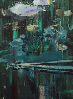 """thunderstruck9: """" Lu Song (Chinese, b. 1982), Empty Dock, 2015. Oil on canvas, 78.74 x 58.42 cm. """""""