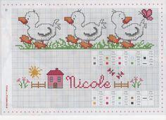 Cross Stitch For Kids, Cross Stitch Bird, Cross Stitch Borders, Cross Stitch Animals, Cross Stitch Charts, Cross Stitch Designs, Cross Stitching, Cross Stitch Embroidery, Embroidery Patterns