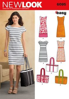 New Look Pattern: NL6095 Misses' Dresses | Easy — jaycotts.co.uk - Sewing Supplies