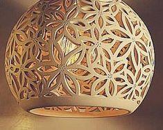 Ceramic pendant light | Etsy