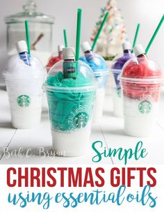 The Easiest Essential Oil Christmas Gift Idea, Ever. It's like a spa in a cup! Tons of GREAT ideas for making homemade gifts with essential oils inside this post! Christmas Gifts For Friends, Teacher Christmas Gifts, Homemade Christmas Gifts, Teacher Gifts, Christmas Diy, Simple Christmas Gifts, Christmas Projects, Christmas 2019, Diy Gifts For Teachers