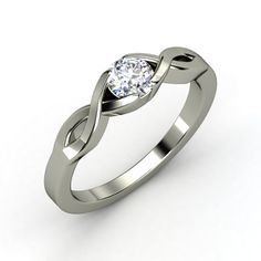"""""""Two Paths Solitaire"""" Ring - Sterling Silver with Diamond"""
