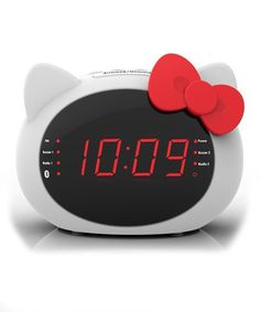 This Hello Kitty Bluetooth Alarm Clock is perfect! #zulilyfinds