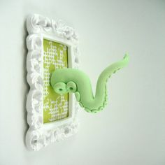 Octopus Tentacle framed Wall Art Handmade Original by snew on Etsy