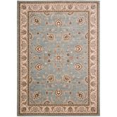 Found it at Wayfair - Arabesque Coventry Blue Smoke/Ivory Rug