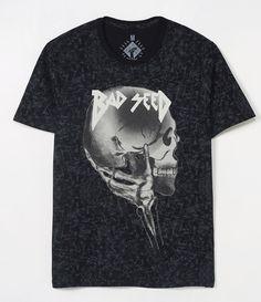 Camiseta masculina  Manga curta  Gola redonda  Com estampa marmorizada  Marca: Blue Steel  Tecido: meia malha  Composição: 100% algodão    Veja outras opções de    camisetas masculinas.