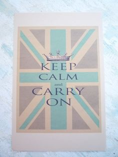 "Union Jack ""Keep Calm and Carry On""