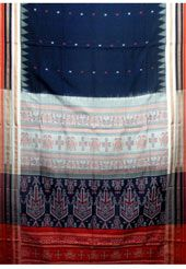 Blue Bomkai Cotton Handloom