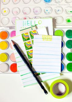 Simple Way To Decorate Cardstock. Turn It Into Stationery!