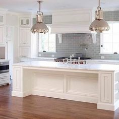 Gray Subway Tile, Transitional, kitchen, L. Kae Interiors