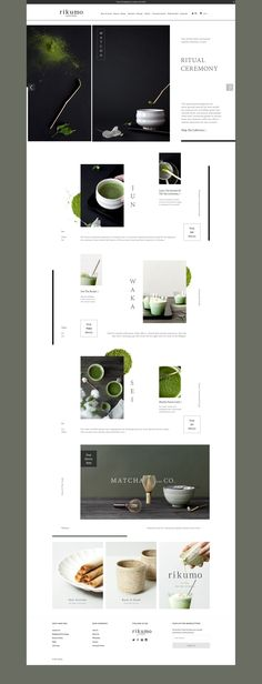 Rikumo.com Morihata Brand Matcha | Homepage Layout Design | Art Direction and Design by Jenny Nieh | Photography by Chris Setty
