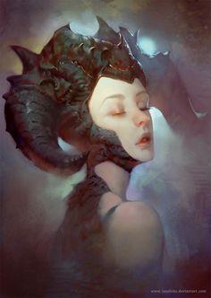 Dragon Lady, lius lasahido on ArtStation at http://www.artstation.com/artwork/dragon-lady-75ec3fb6-823a-4131-a323-52f3fe8a9886
