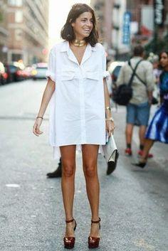 street style t-shirt dress