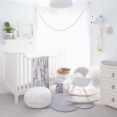 Bebe room in greys + whites. @littledreambird
