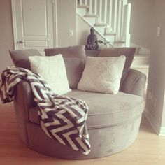 Urban Barn Nest Chair in my new condo! #ChairForBedroom #CoolChair
