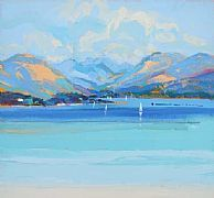 Loch Creran Argyll by Peter King part of our Scotsmen Exhibition in our Long Melford Gallery from 9th February 2013 www.limetreegallery.com