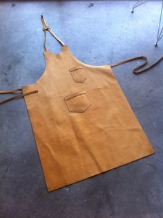 Leather Barista or Shop Apron by AloysiusUSA on Etsy, $295.00