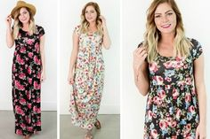 Wear one of these darling maxi dresses this spring this with your favorite sandals, and layer it with your fave boyfriend cardigan when the evenings get chilly.