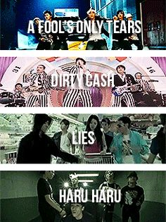 A Fool's Only Tears/Dirty Cash/Lies/Haru Haru